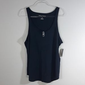 NAUTICA sleepwear navy sleeveless top size L